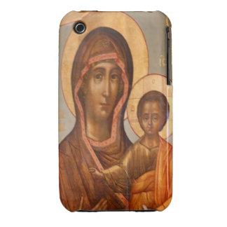 Pintura del Virgen María con Jesucristo Funda Para iPhone 3 De Case-Mate