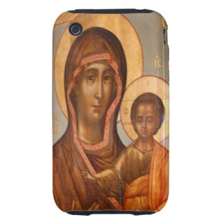 Pintura del Virgen María con Jesucristo Funda Resistente Para iPhone 3