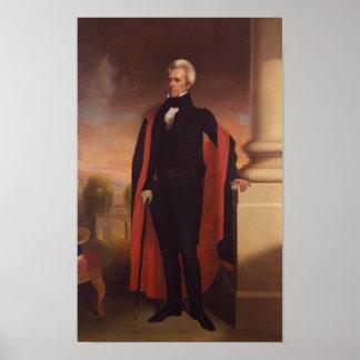 Pintura derecha de Andrew Jackson Póster