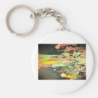 pintura diaria abstracta del chapoteo llavero redondo tipo pin