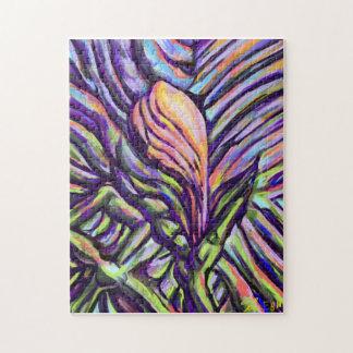 Pintura digital de la naturaleza de la flor puzzle