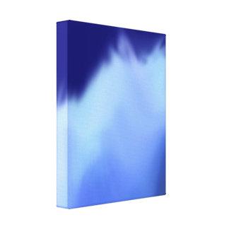 pintura digital del arte azulado de la acuarela impresión en tela