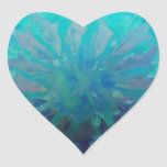 Pintura digital del círculo del delfín del © P Pegatina En Forma De Corazón