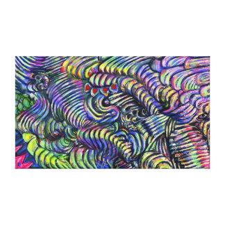 """Pintura digital del extracto del """"flujo impresiones de lienzo"""