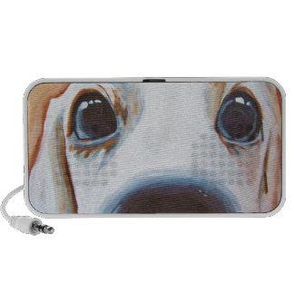 Pintura divertida del perro iPod altavoz