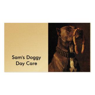 Pintura divertida del perro tarjetas de visita