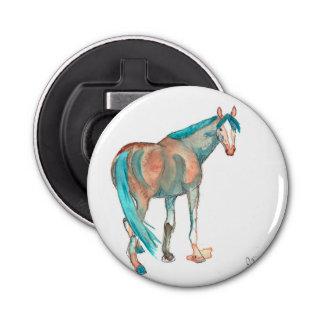 Pintura ecuestre del caballo del extracto de la abrebotellas redondo