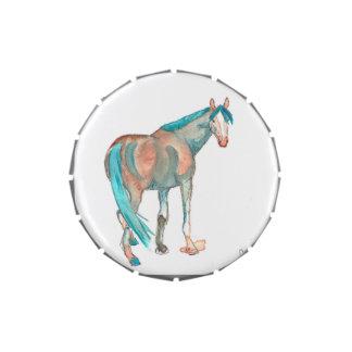 Pintura ecuestre del caballo del extracto de la jarrones de dulces