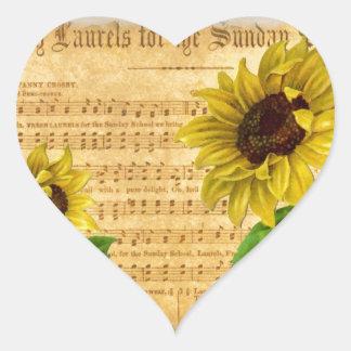 Pintura elegante lamentable del collage del pegatina en forma de corazón