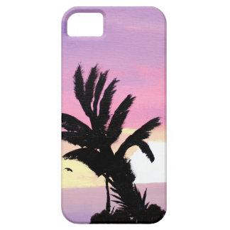 Pintura en colores pastel de la puesta del sol funda para iPhone SE/5/5s