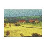 pintura en colores pastel del estilo de la pradera lona estirada galerías