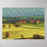 pintura en colores pastel del estilo de la pradera impresiones