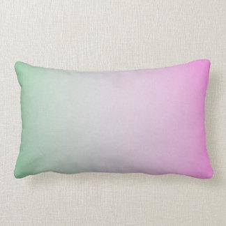 pintura en colores pastel verde y rosada abstracta cojín lumbar