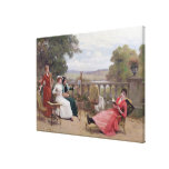 Pintura en la terraza impresiones de lienzo