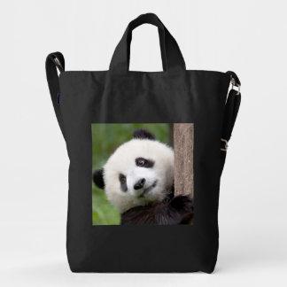 Pintura encantadora del oso de panda bolsa de lona duck