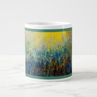 Pintura enterrada del extracto del tesoro en la taza grande
