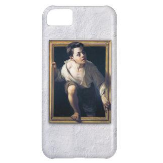 """Pintura """"Escapando de la crítica"""" Trampantojo Art Funda Para iPhone 5C"""