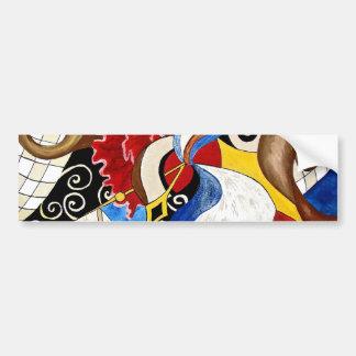 Pintura española del arte abstracto pegatina para auto