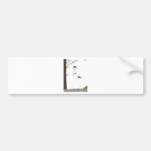Pintura espeluznante del arroz de Jane Austen Pegatina Para Auto