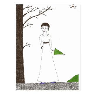 Pintura espeluznante del arroz de Jane Austen Postales