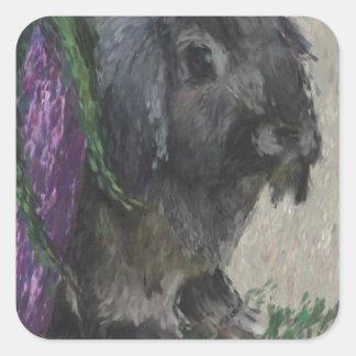 Pintura espigada del conejo del Lop Colcomanias Cuadradas