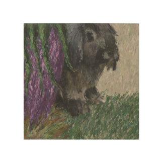 Pintura espigada del conejo del Lop Cuadros De Madera