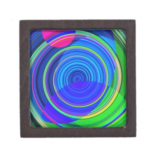 Pintura espiral reconstruida caja de joyas de calidad