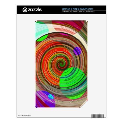 Pintura espiral reconstruida calcomanía para NOOK color