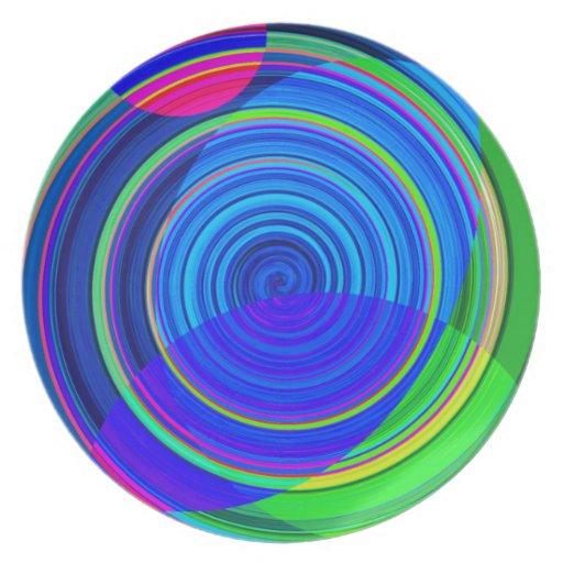 Pintura espiral reconstruida plato