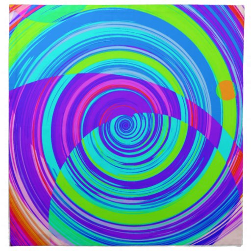 Pintura espiral reconstruida servilleta imprimida