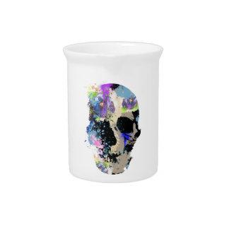 Pintura esquelética del cráneo loco de la fantasía jarrón