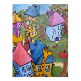 pintura estirada tarjetas postales