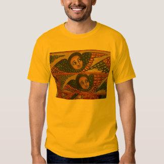 Pintura etíope de la iglesia - camiseta de los poleras