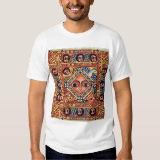 Pintura etíope de la iglesia - camiseta del blanco poleras