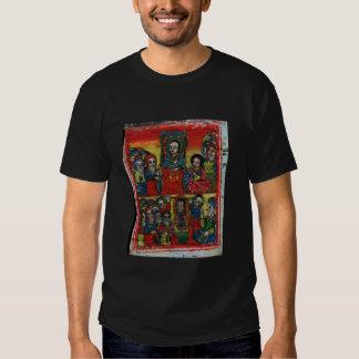 Pintura etíope de la iglesia - camiseta Maryam Polera