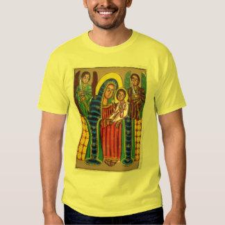 Pintura etíope de la iglesia - camiseta negra de camisas