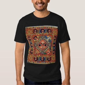 Pintura etíope de la iglesia - camiseta negra de remeras
