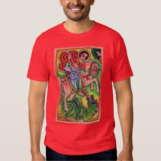 Pintura etíope de la iglesia - Kidus Gebreal Playera