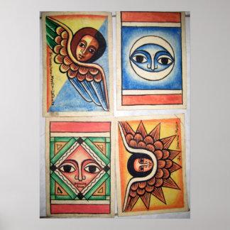 Pintura etíope de la iglesia - poster de las ilust