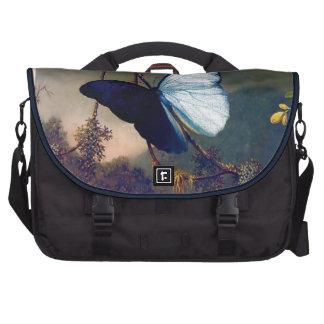 Pintura exótica azul de la mariposa bolsas de ordenador