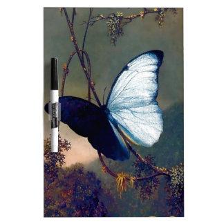 Pintura exótica azul de la mariposa pizarras blancas