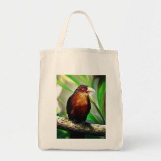 Pintura exótica colorida fresca del pájaro tropica bolsas de mano