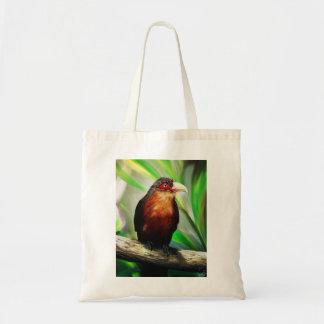 Pintura exótica colorida fresca del pájaro tropica bolsa