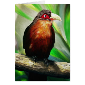 Pintura exótica colorida fresca del pájaro tropica felicitación
