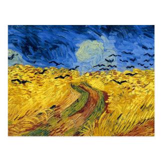 Pintura famosa de los campos de trigo de Van Gogh Tarjeta Postal