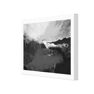 Pintura ficticia blanco y negro impresiones en lona estiradas