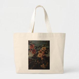 Pintura floral bolsa lienzo