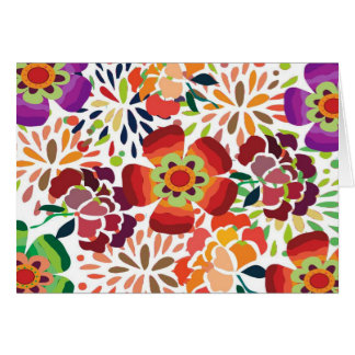 pintura floral bonita card