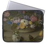 Pintura floral de la bella arte fundas portátiles
