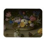 Pintura floral de la bella arte imanes